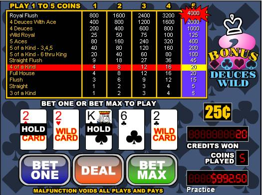 online slot machines american poker ii